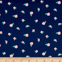 Sweet Florals Tiny Rose Navy