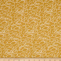 Faith Words Gold