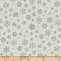 Sparkle Metallic Snow Flakes Silver