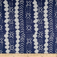 Twilight Dots Motif Stripe Indigo Blue