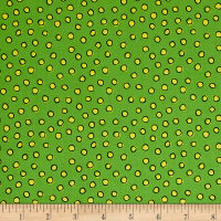 We Share One World Dots Green