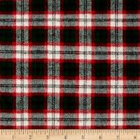 Primo Plaids Classics Flannel Tartan Red/White