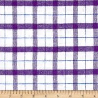 Marcus Primo Plaids Color Crush Flannel Blocks White/Purple