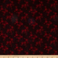 Designer Spain Spun Floral Brocade Red/Black