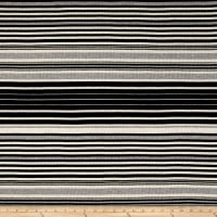 Rib Knit Yarn Dyed Stripe Black/Oatmeal/Heather Gray