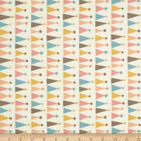 Moda Corner of 5th & Fun Hats Flannel Ivory