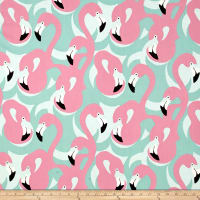 Alexander Henry Boardwalk Flamingo Pink/Mint