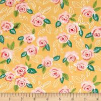 Moda Sugar Pie Wildest Rose Yellow