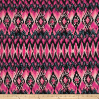 Rihan Jersey Knit Abstract Diamonds Pink/Black/Blue
