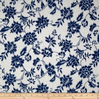 Indigo Summer Graphic Floral Cream