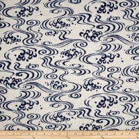Indigo Summer Graphic Waves Cream