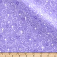 Make Believe Glitter Swirls Purple