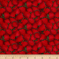 Packed Strawberries Red
