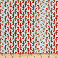 Moda Snowfall Prints Candy Cane Ice