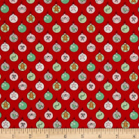 Moda Sugar Plum Christmas Shiny Brites Candy Red