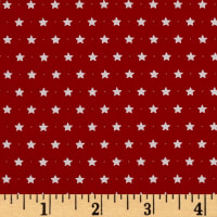 Moda Sugar Plum Christmas Twinkle Stars Candy Red