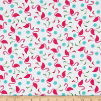 Frosty Flamingo Tossed Flamingos White