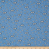 QT Fabrics Millions Of Minions Googly Eyes Blue