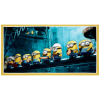 "QT Fabrics Millions Of Minions Minions In A Row Digital 23"" Panel Yellow"