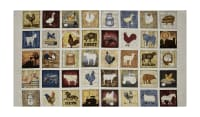 "Bountiful Farm Animals Small Patch 23.5"" Panel Natural"