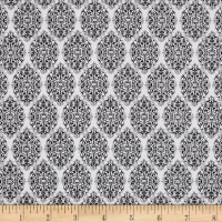 QT Fabrics Santoro All For Love Damask White/Black