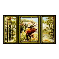 "QT Fabrics Mountain Elk Mountain Picture 23.5"" Panel Multi"