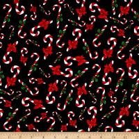 Loralie Designs Fairy Merry Christmas Candy Cane Crowd Black