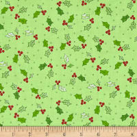 Maywood Studio Kimberbell  Jingle All The Way Holly & Berries Green
