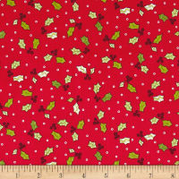 Maywood Studio Kimberbell Jingle All The Way Holly & Berries Red