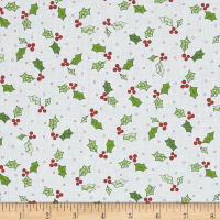 Maywood Studio Kimberbell Jingle All The Way Holly & Berries White