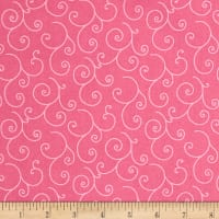Maywood Studio Kimberbell Basics Scroll Pink Tonal
