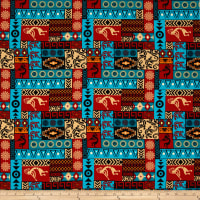 Mystical Native Patch Turquoise