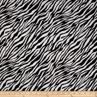 Double Knit Jacquard Black/Grey Zebra Print