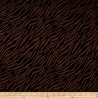 Double Knit Jacquard Brown/Black Zebra Print