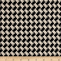 Double Knit Jacquard Houndstooth Black/White
