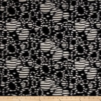 Telio Sawyer Jacquard Knit Striped Circles Ivory/Black