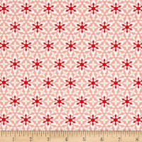 Contempo Nordic Holiday Small Snowflakes Pink