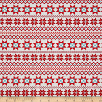 Contempo Nordic Holiday Nordic Stripe Red