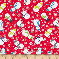 Contempo Mulberry Lane Snowman Red