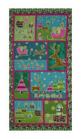 "Contempo Merry Little Christmas Metallic Christmas 23"" Panel Green"