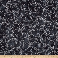 Kanvas Winter Story Vine Scroll Black