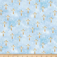 Kanvas Heaven Sent Luminated Cross Blue