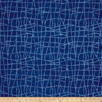 Colorama Batiks Wavy Plaid Ocean