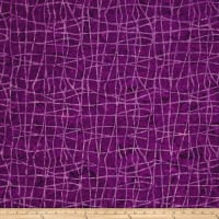 Colorama Batiks Wavy Plaid Plum