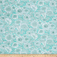 Liberty Garden Blooms Turquoise