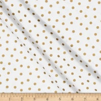 Mixology Luxe Dotted White & Gold Metallic