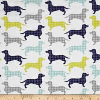 The Dog Gone It Collection Dachshunds-tooth White