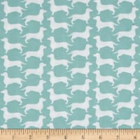 The Dog Gone It Collection Dog Silhouette Turquoise