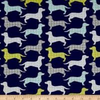 The Dog Gone It Collection Dachshunds-tooth Dark Blue