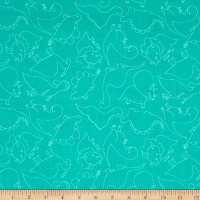 Dino-Mite Outline Turquoise